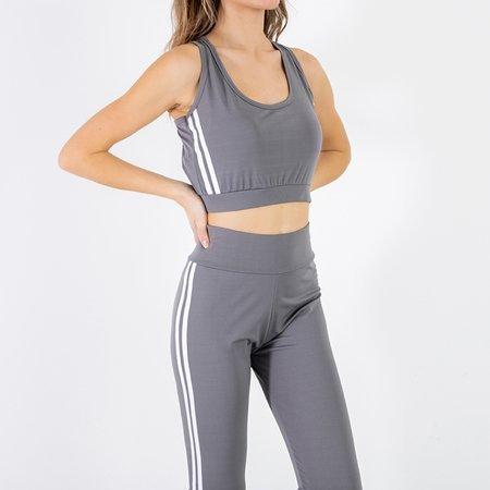 Women's gray 3 piece sports set - Clothing