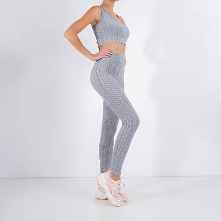 Women's gray sports set - Clothing