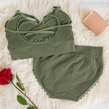Women's green lingerie set - Underwear