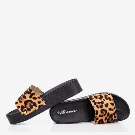 Women's leopard slippers Runa - Footwear 1