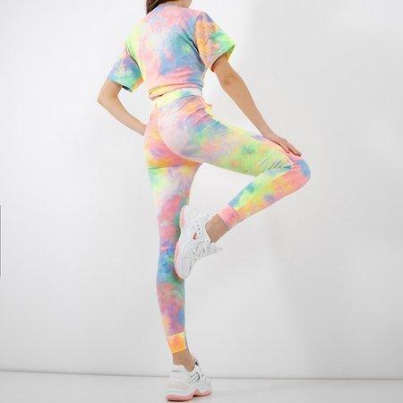 Women's multicolored tie dye sports set - Clothing
