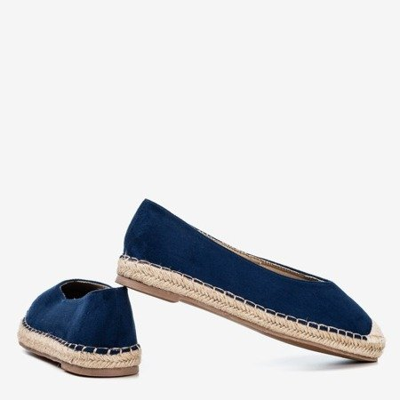 Women's navy blue espadrilles Lalina - Footwear