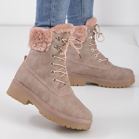 Women's pink insulated boots - Shoes