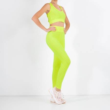 Women's sports set in neon yellow - Clothing