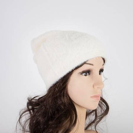 Women's white fur hat - Caps