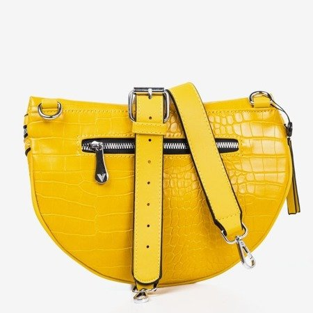 Yellow small kidney bag with animal embossing - Bags