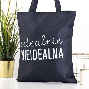 Black bag with the inscription - Handbags