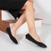 Black ballerinas with Olanka decoration - Footwear