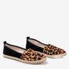 Black women's espadrilles a'la leopard Fulton - Footwear 1
