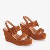 Brown women's Fina wedge sandals - Shoes