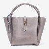 Dark gray women's bag with tassel - Handbags 1