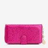 Fuchsia women's wallet with flowers - Wallet