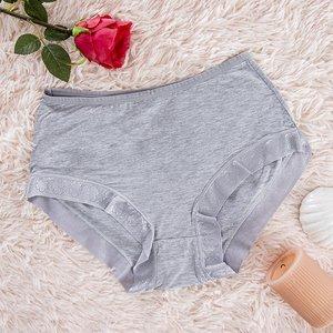 Gray women's panties panties - Underwear