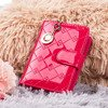 Lacquered small women's wallet in fuchsia color - Wallet