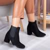 OUTLET Black boots on a higher post Klarisa - Footwear