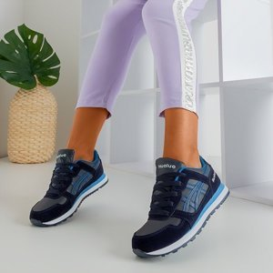 OUTLET Navy blue sports shoes for women Qatie - Footwear