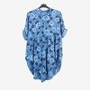 Patterned tunic for women in blue - Blouses 1