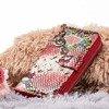 Patterned women's wallet a'la snakeskin in pink - Wallet
