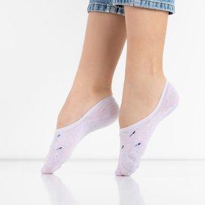 Purple women's socks with patterns - Underwear