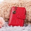 Red small women's wallet with animal embossing - Wallet
