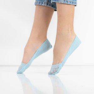 Women's blue lace ballerinas feet - Socks