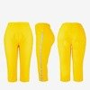 Yellow short leggings with stripes - Pants 1