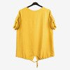 Yellow women's tunic with inscriptions - Blouses 1
